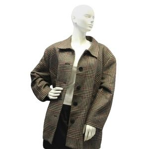 Talbots Plaid Coat Size 24W (SKU 000053)